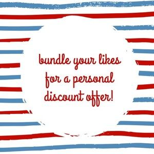 add likes to a bundle to receive a personal offer!